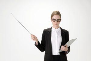 外国人女性教師